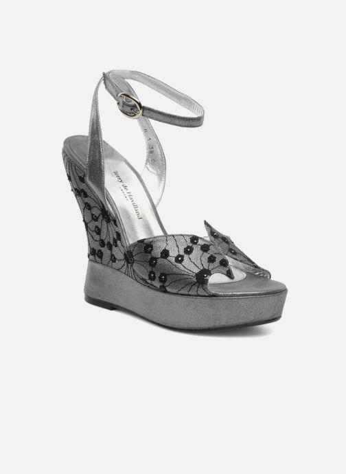Sandales et nu-pieds Terry de Havilland LIZZY LACE Argent vue détail/paire