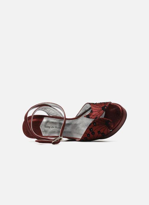Sandales et nu-pieds Terry de Havilland LIZZY LACE Rouge vue gauche