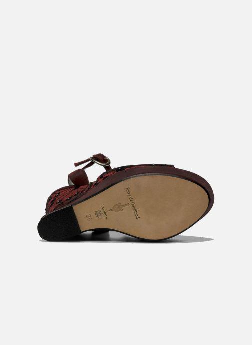 Sandales et nu-pieds Terry de Havilland LIZZY LACE Rouge vue haut