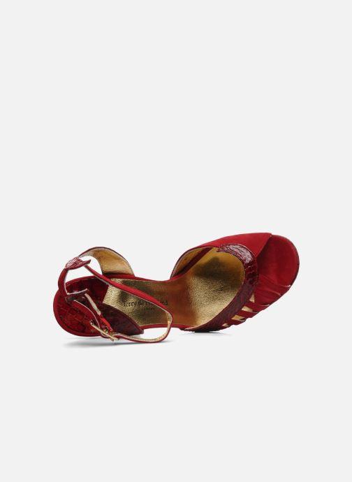 Sandales et nu-pieds Terry de Havilland MARGUERITE SNAKE Rouge vue gauche