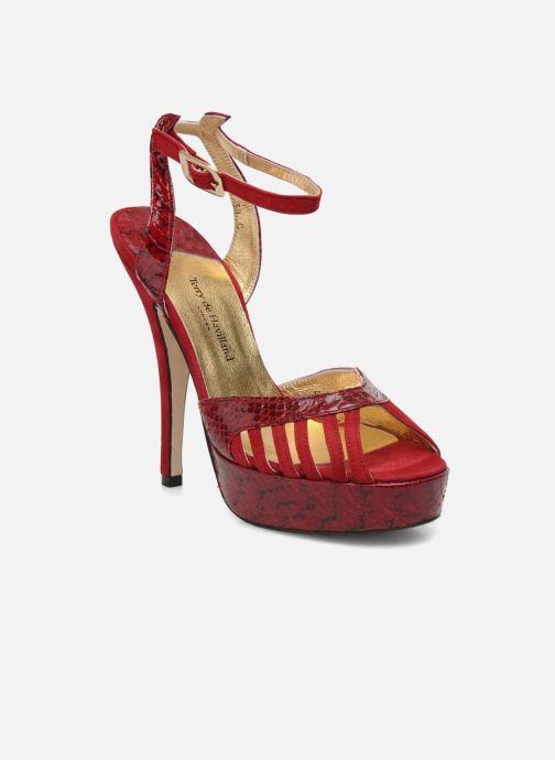 Sandales et nu-pieds Terry de Havilland MARGUERITE SNAKE Rouge vue détail/paire