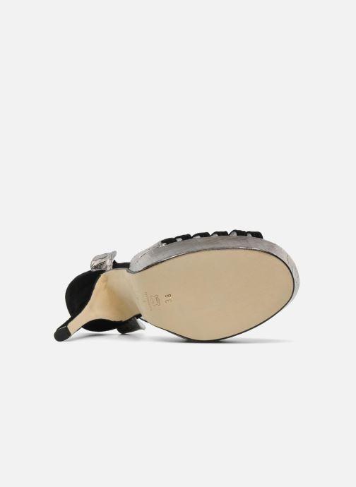 Sandales et nu-pieds Terry de Havilland MARGUERITE SNAKE Noir vue haut