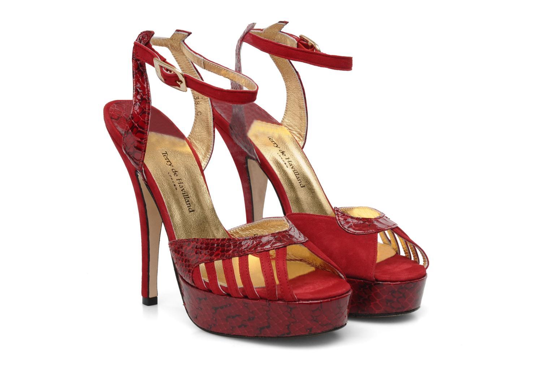 Sandales et nu-pieds Terry de Havilland MARGUERITE SNAKE Rouge vue 3/4