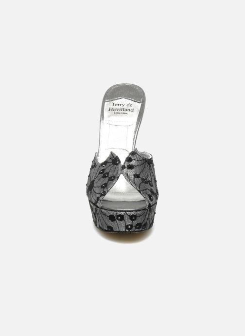 Mules et sabots Terry de Havilland AMY LACE Argent vue portées chaussures