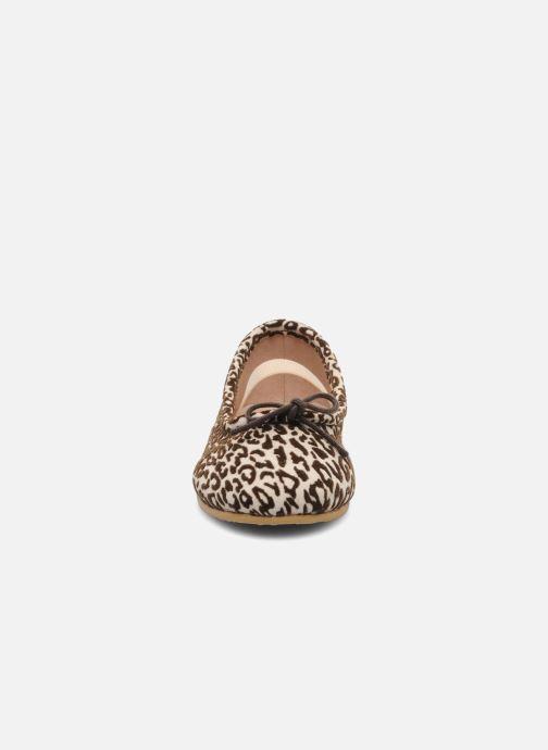 Ballerines Bloch toddler arabella animal Beige vue portées chaussures