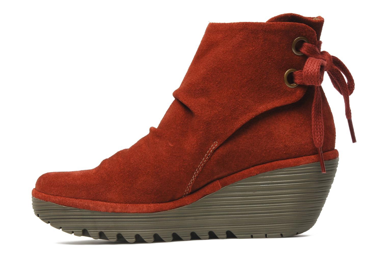 Bottines et boots Fly London Yama Rouge vue face