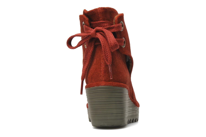 Bottines et boots Fly London Yama Rouge vue droite