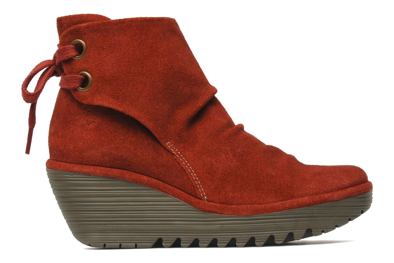 Bottines et boots Fly London Yama Rouge vue derrière