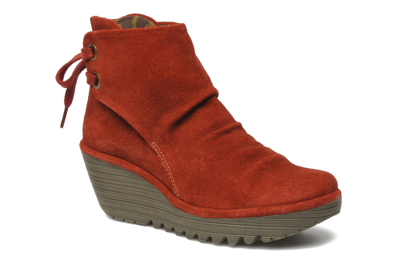 Bottines et boots Fly London Yama Rouge vue détail/paire