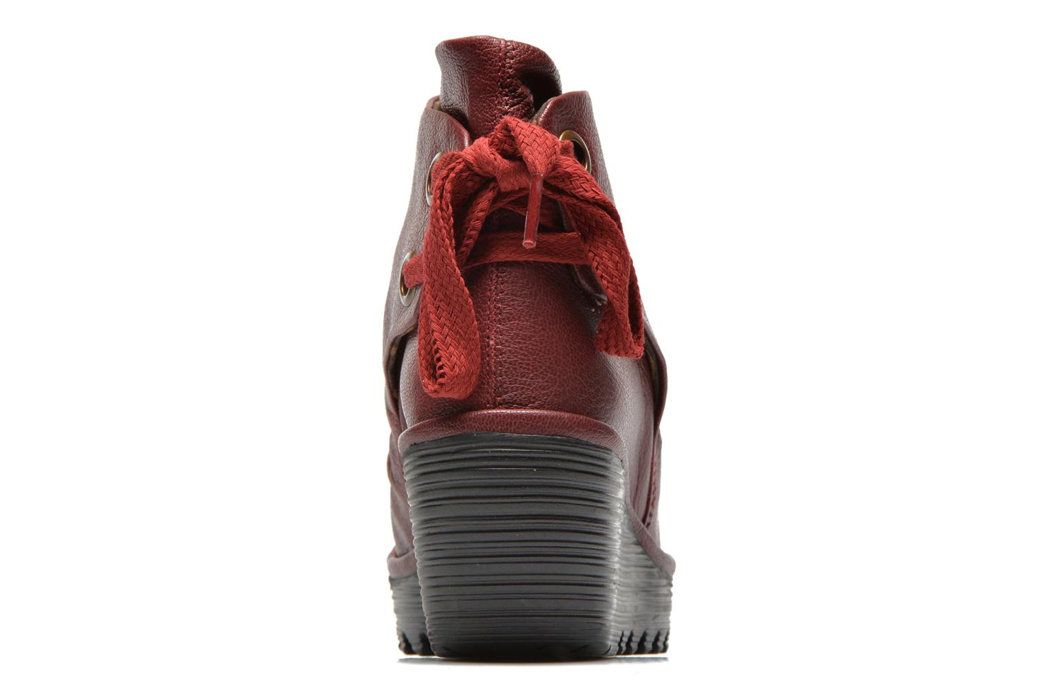 Ankle boots Fly London Yama Red view from the right