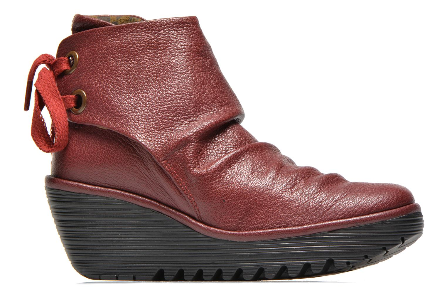 Ankle boots Fly London Yama Red back view