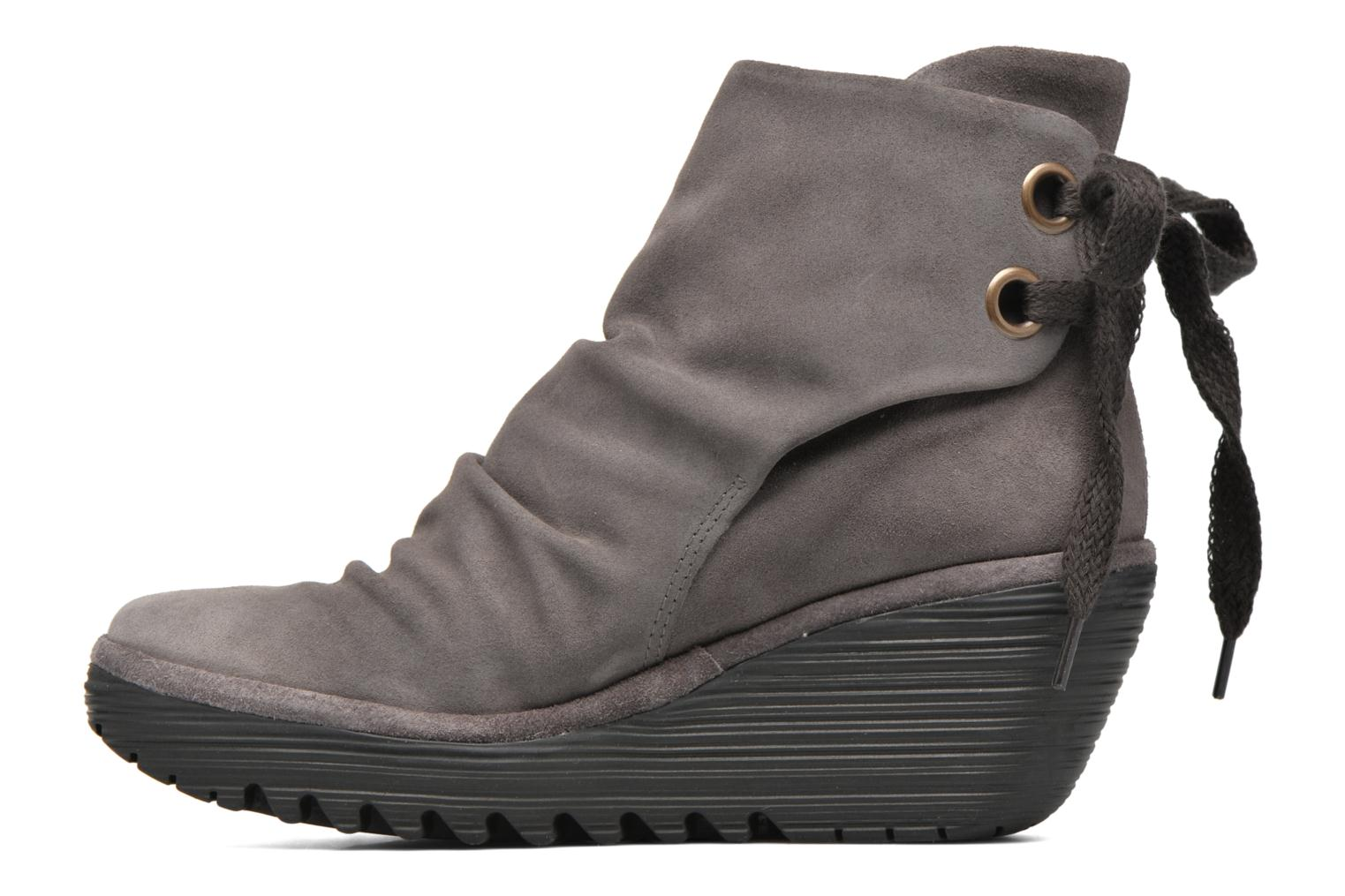 Bottines et boots Fly London Yama Gris vue face