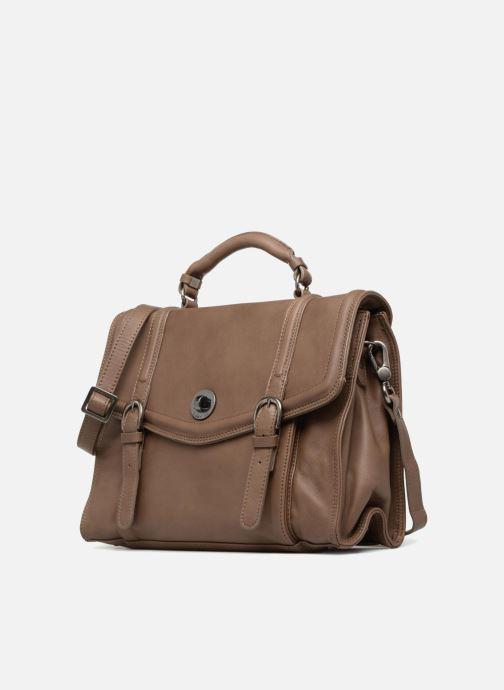 Handtaschen Sabrina Pauline braun schuhe getragen