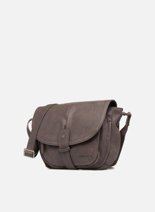 Handbags Sabrina Louison Brown model view