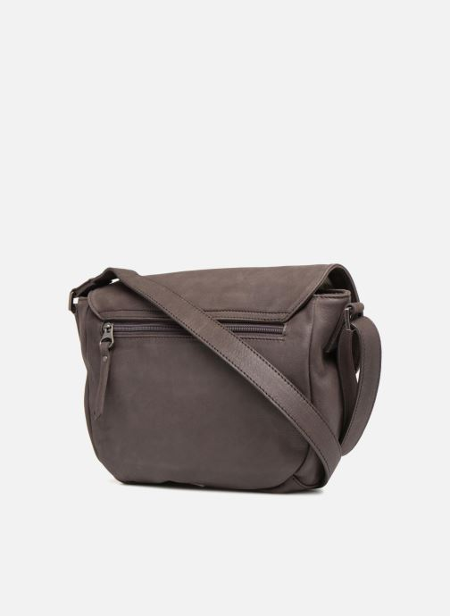 Handbags Sabrina Louison Brown view from the right