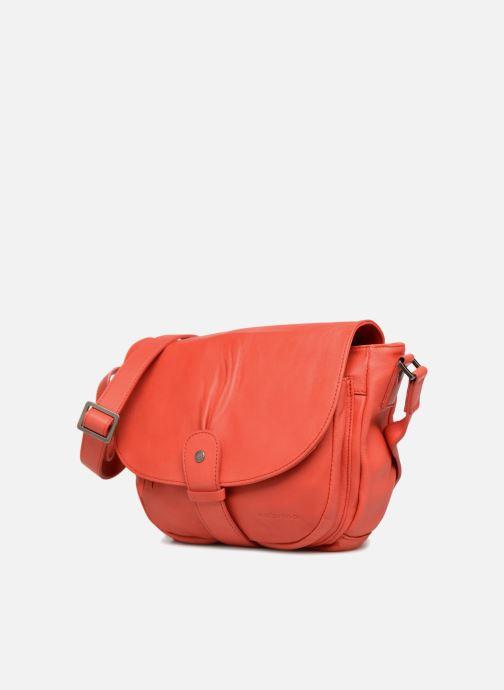 Handtaschen Sabrina Louison rot schuhe getragen