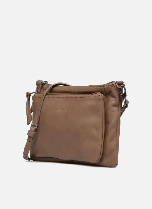 Clutch bags Sabrina Manon Beige model view