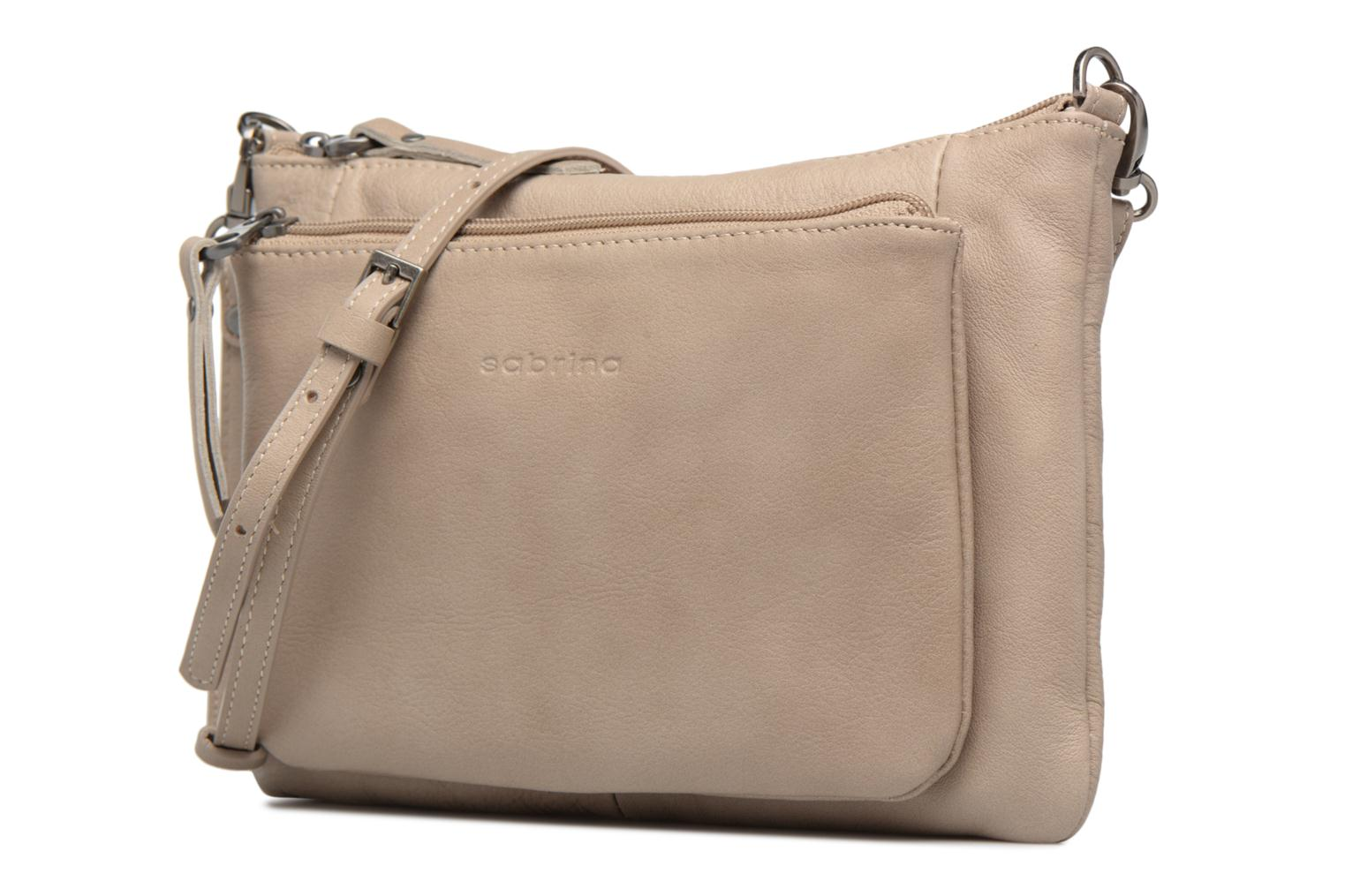 Clutch bags Sabrina Manon Beige model view