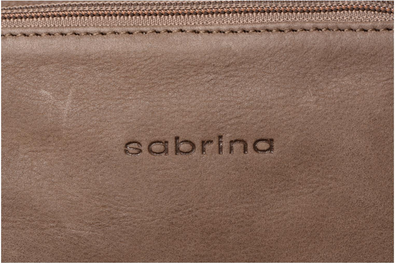 Sacs pochettes Sabrina Manon Marron vue gauche