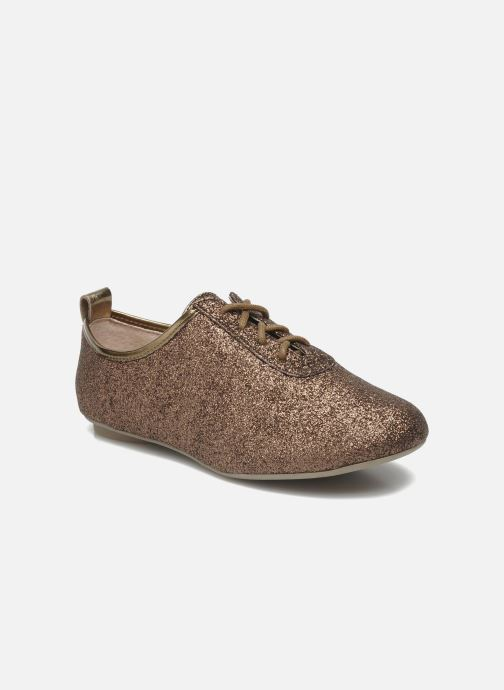 Snøresko Mellow Yellow Mini Moonwolk Guld og bronze detaljeret billede af skoene