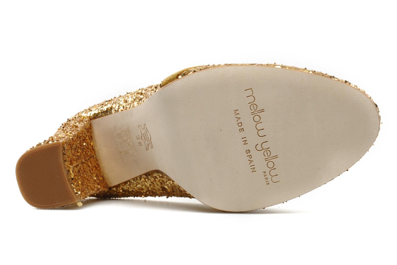 Mocasines Mellow Yellow Mask Oro y bronce vista de arriba