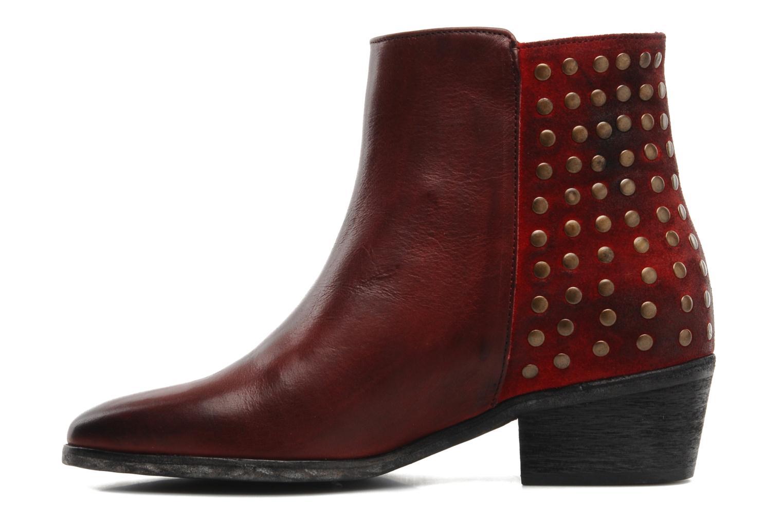Bottines et boots Pastelle Maureen Bordeaux vue face