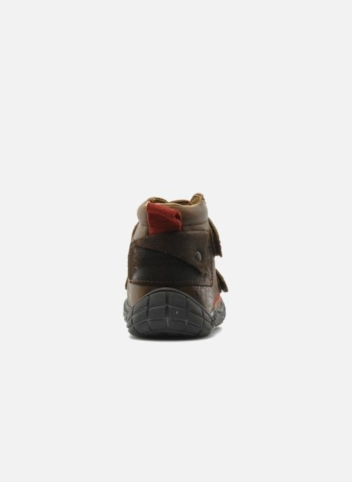 Velcro shoes Babybotte Aligator Brown view from the right