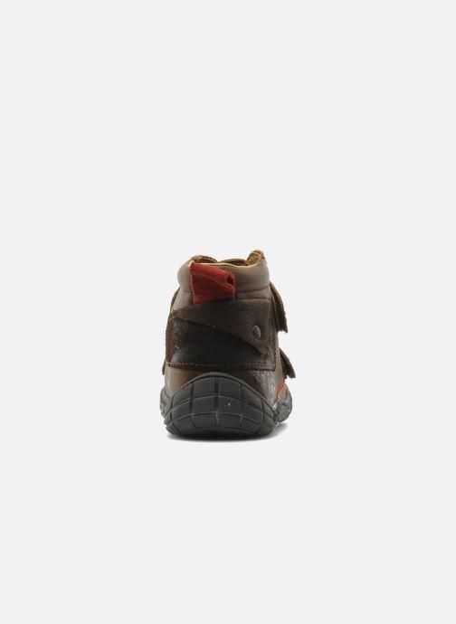 Zapatos con velcro Babybotte Aligator Marrón vista lateral derecha