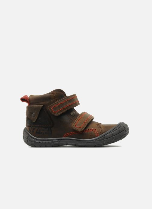 Velcro shoes Babybotte Aligator Brown back view