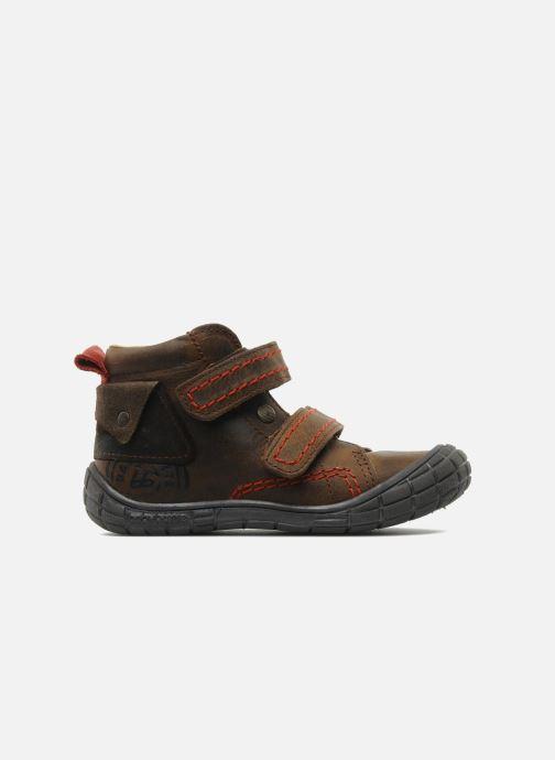 Zapatos con velcro Babybotte Aligator Marrón vistra trasera