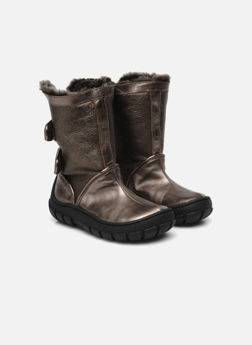 Boots & wellies Pom d Api Piwi chabraque bis Bronze and Gold 3/4 view