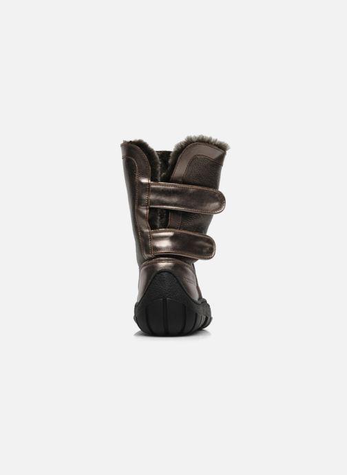 Botas Pom d Api Piwi chabraque bis Oro y bronce vista lateral derecha
