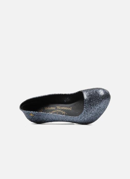 Zapatos de tacón Melissa Vivienne Westwood + Melissa Skyscraper III Plateado vista lateral izquierda