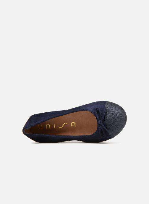 Ballerinas Unisa Cino blau ansicht von links
