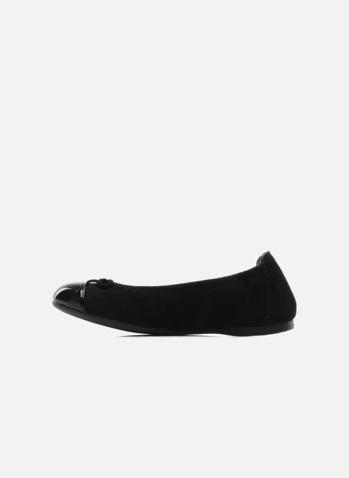 Ballerinas Unisa Cino schwarz ansicht von vorne
