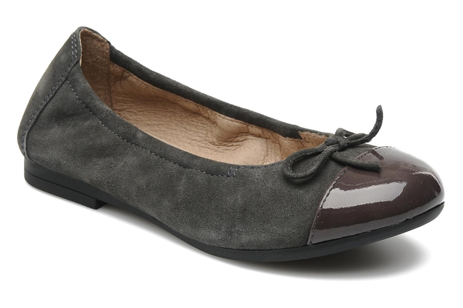Ballet pumps Unisa Cino Grey detailed view/ Pair view
