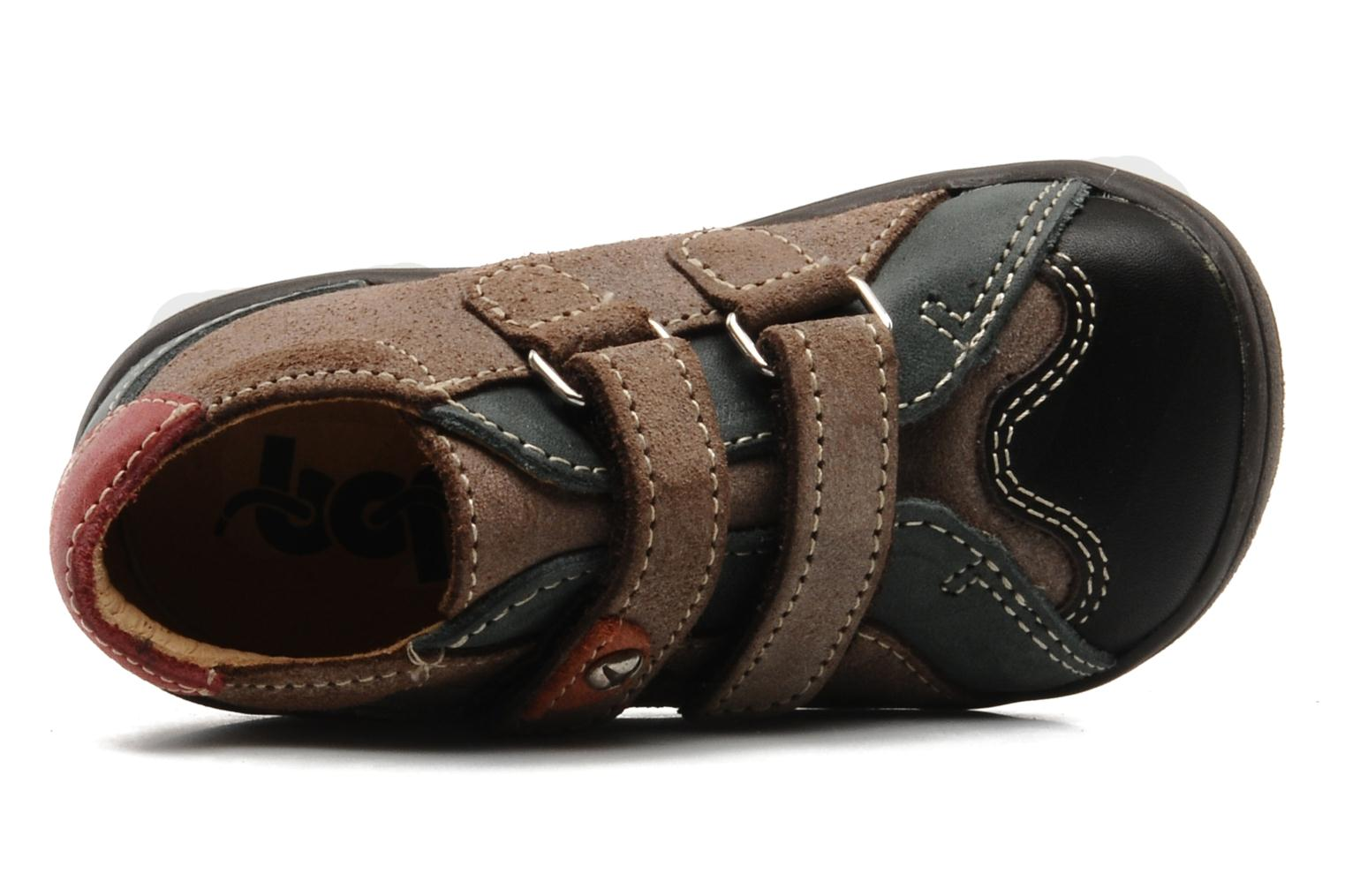 Velcro shoes Bopy Zirvel Brown view from the left