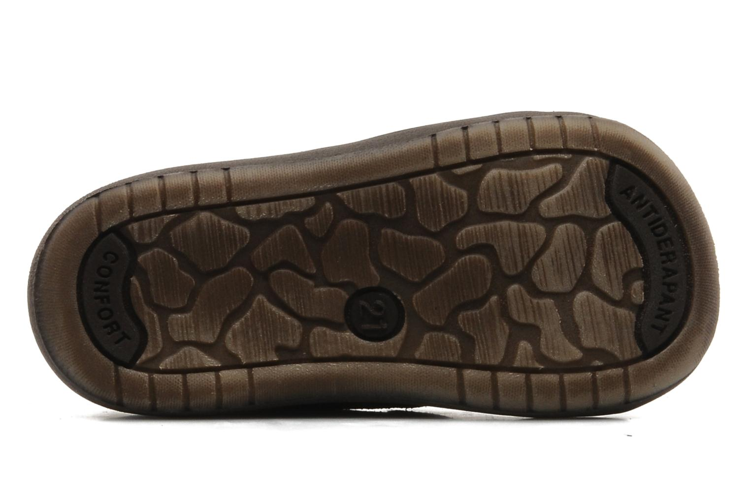 Velcro shoes Bopy Zirvel Brown view from above