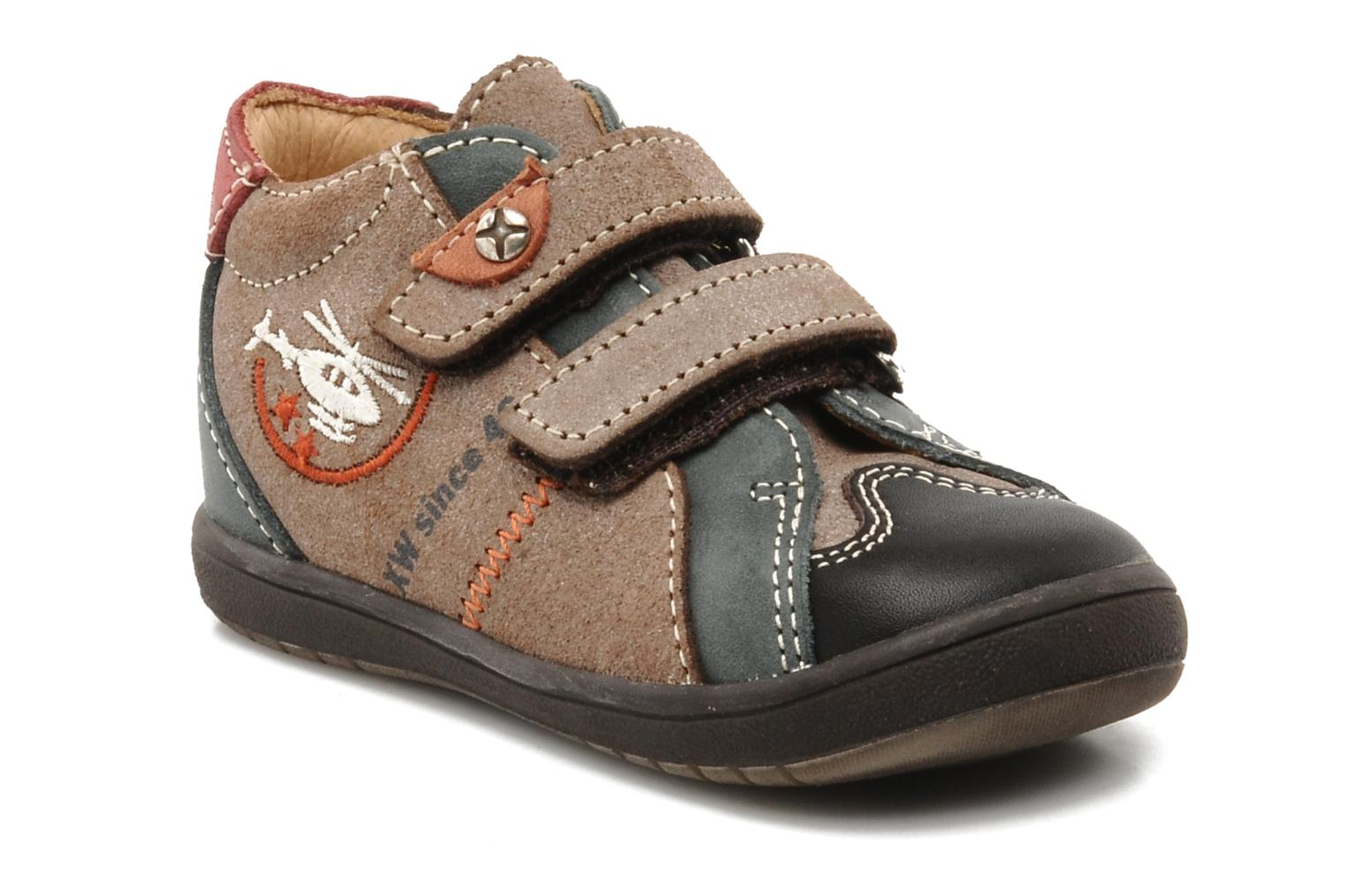 Velcro shoes Bopy Zirvel Brown detailed view/ Pair view