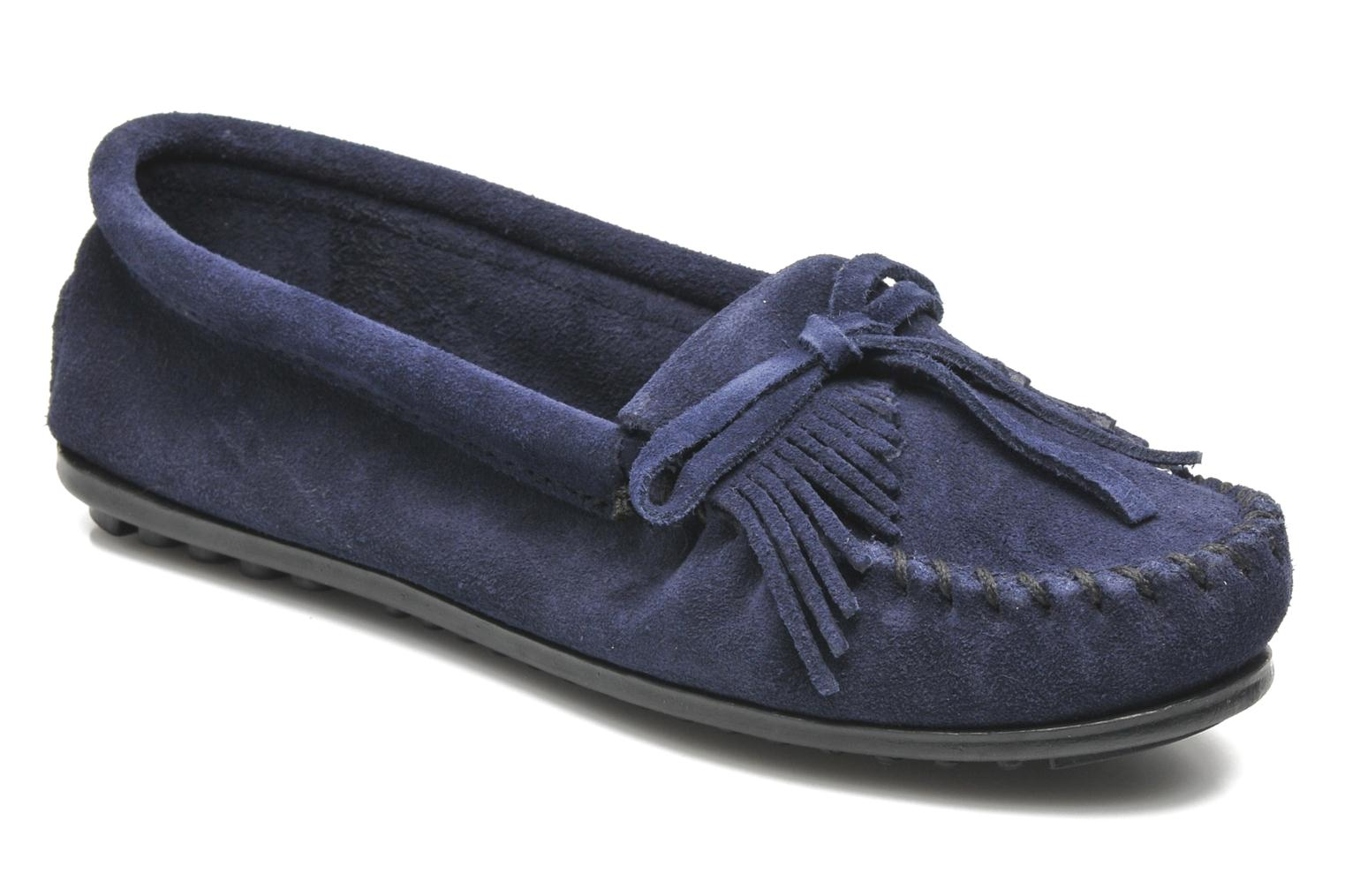 Loafers Minnetonka KILTY SUEDE MOC Blue detailed view/ Pair view