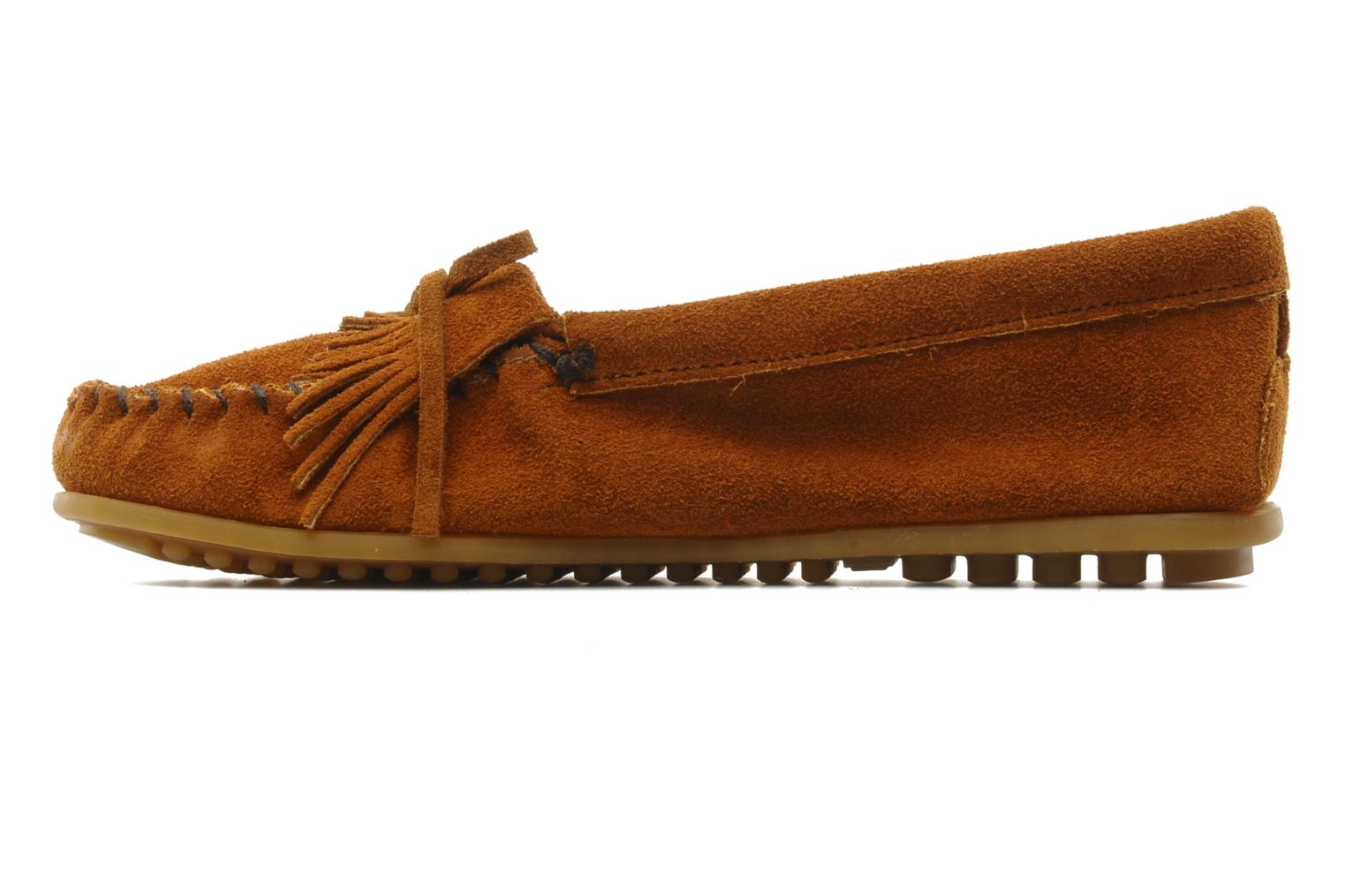 Loafers Minnetonka KILTY SUEDE MOC Brown front view