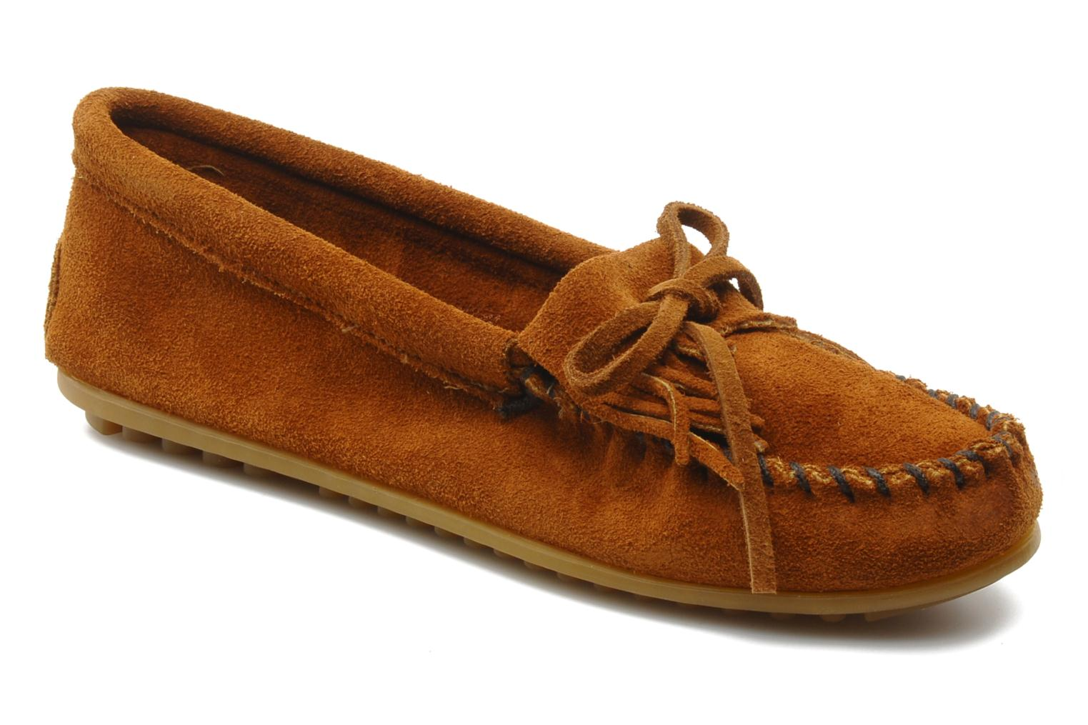 Loafers Minnetonka KILTY SUEDE MOC Brown detailed view/ Pair view