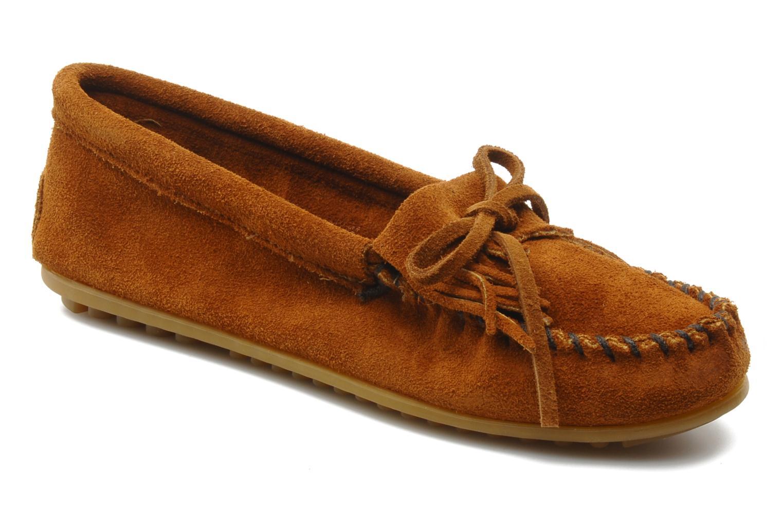 Loafers Minnetonka KILTY SUEDE MOC Brun detaljeret billede af skoene