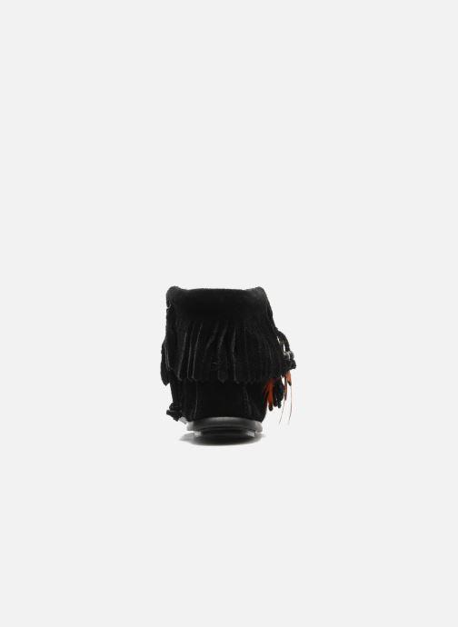 Bottines et boots Minnetonka CONCHOFEATHER BT Noir vue droite