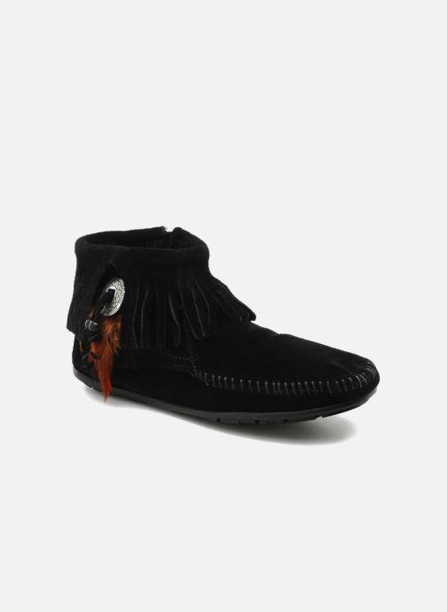 Bottines et boots Minnetonka CONCHOFEATHER BT Noir vue détail/paire