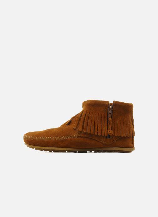 Boots en enkellaarsjes Minnetonka CONCHOFEATHER BT Bruin voorkant