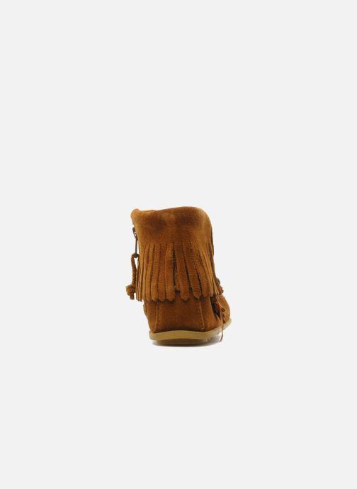 Boots en enkellaarsjes Minnetonka CONCHOFEATHER BT Bruin rechts