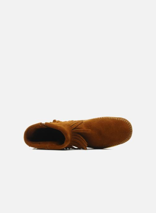 Boots en enkellaarsjes Minnetonka CONCHOFEATHER BT Bruin links