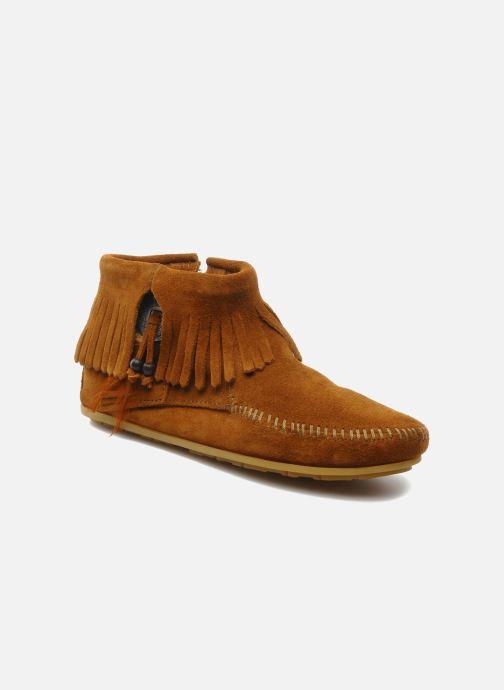 Boots en enkellaarsjes Minnetonka CONCHOFEATHER BT Bruin detail