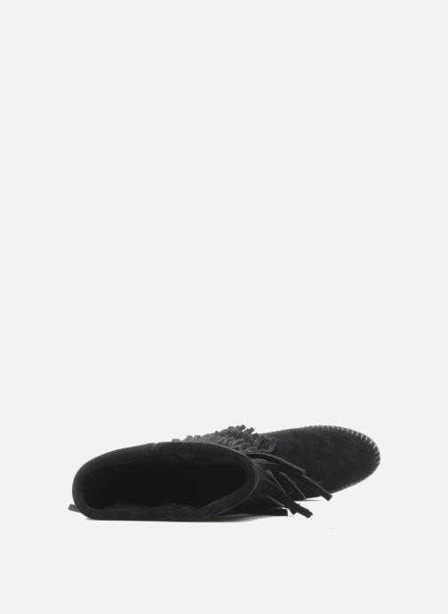 Bottines et boots Minnetonka 3 LAYER FRINGE BOOT Noir vue gauche